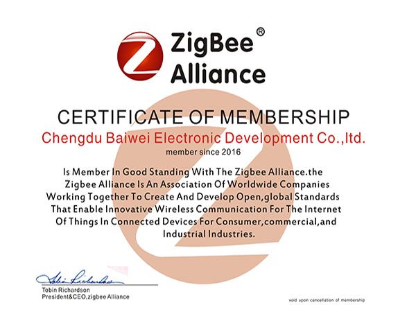 百微ZigBee联盟证