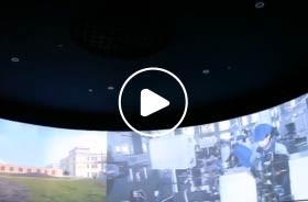 张家港五十周年展馆环幕投影