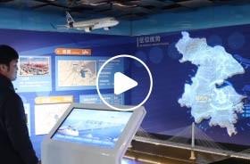 杭州湾上虞规划馆区位沙盘