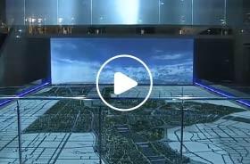 西安浐灞生态区联动规划数字沙盘