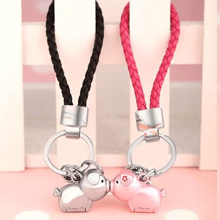 情侣小猪钥匙扣