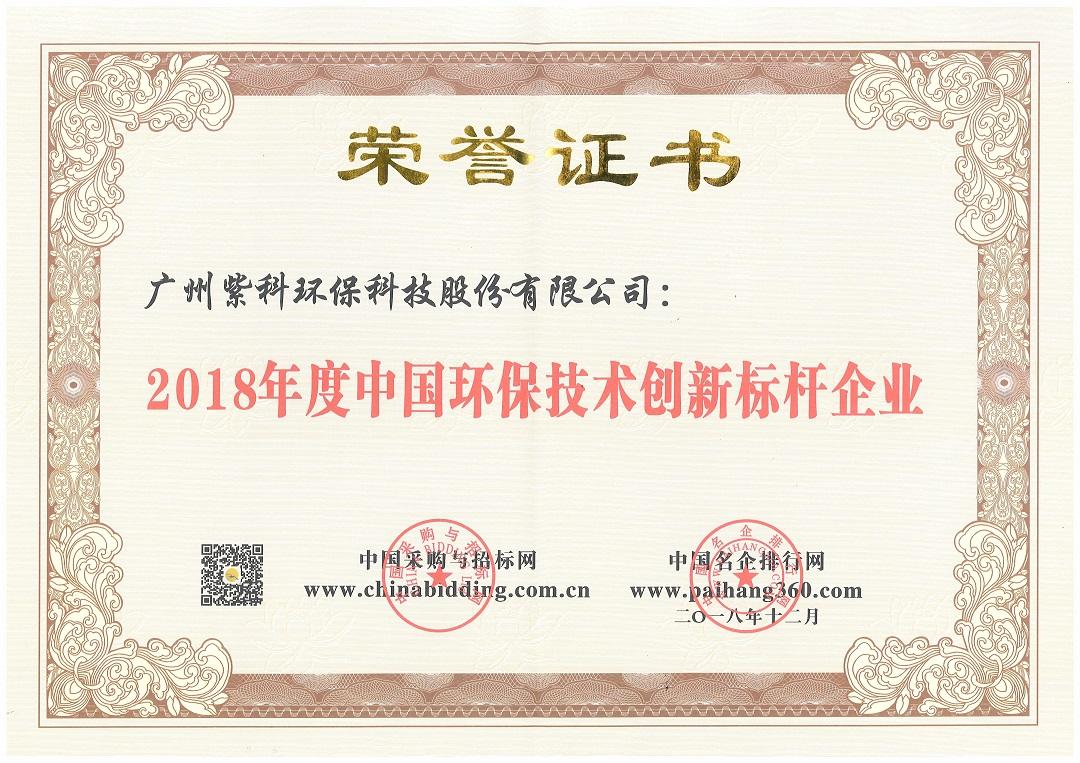 """紫科环保荣获""""2018年度中国工业废气治理设备优秀供应商""""等奖项"""