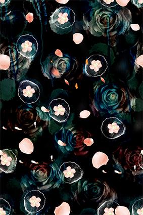 抽象叠加效果玫瑰花