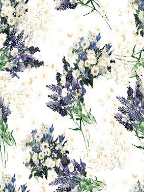紫罗兰元素薰衣草