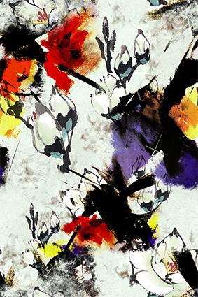 水彩渲染涂鸦花朵