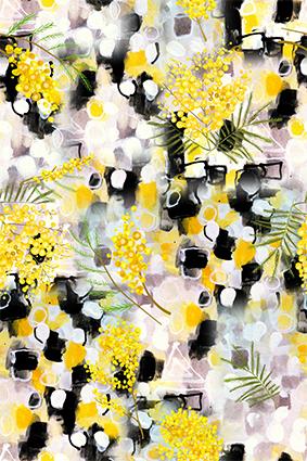 黄色花蕊芳香花窗