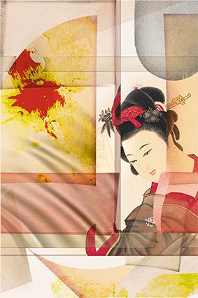 日式美女古装图绘