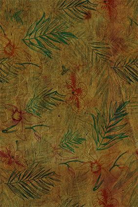 复古抽象树叶迷墙