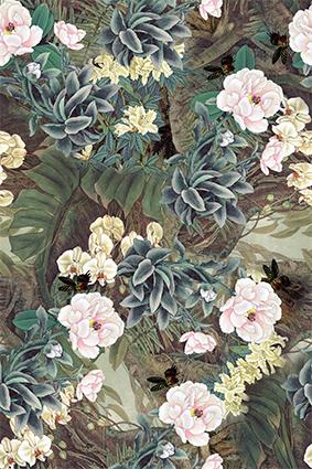 古典植物复古花型