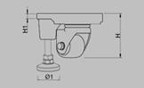 KT-AF M 水平调节脚轮 (铝合金) 系列