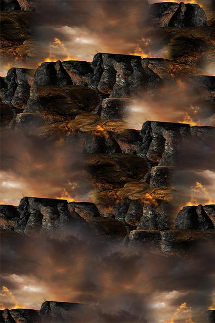 天空岩石抽象图案