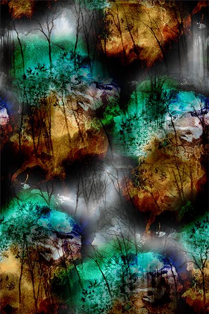 抽象丛林岩石山脉