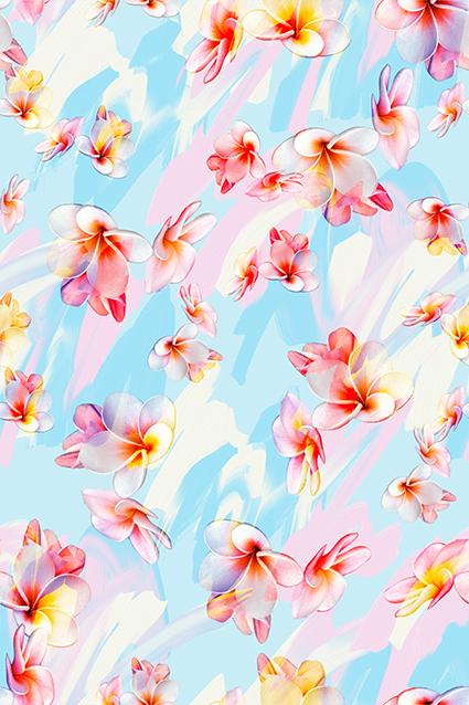 柔和真彩点缀花片