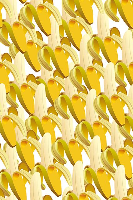 矢量手绘可口香蕉
