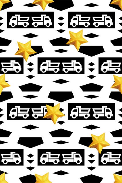 立体五角形卡通汽车