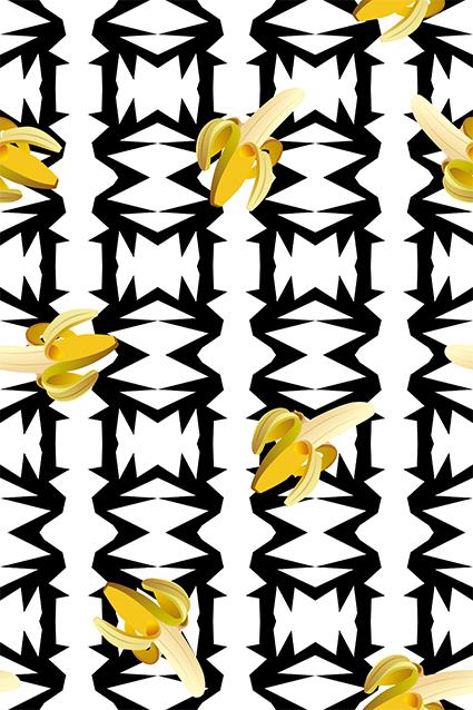 黑色边框矢量香蕉