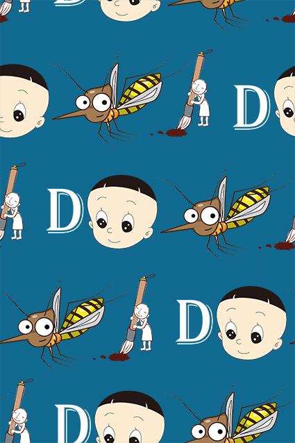 大头儿子卡通蜜蜂字母