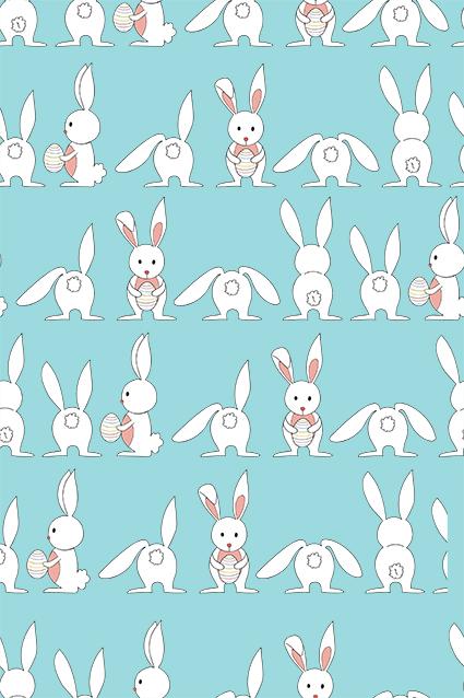 可爱素描卡通兔子