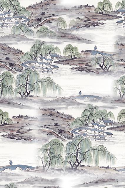 古风山水手绘画
