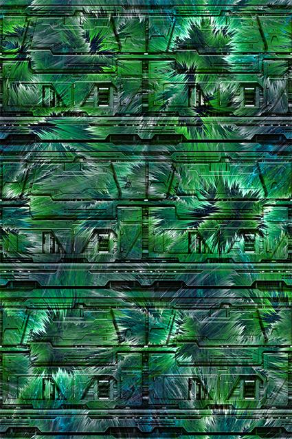 立体模型绿色植物