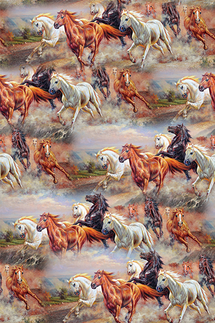 草原奔驰骏马图绘