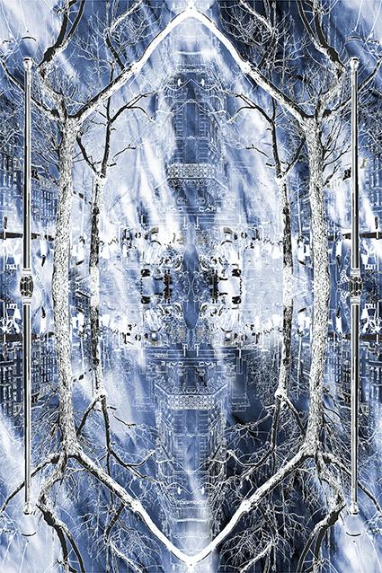 对称树梢城堡图