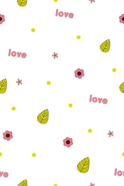情侣密语矢量花叶