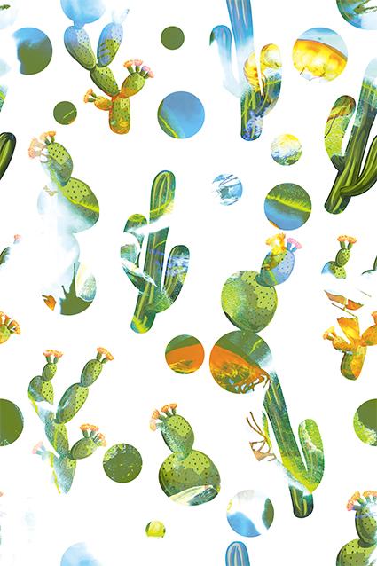 白底渲染绿色植物花
