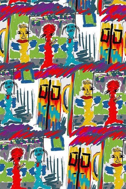 儿童涂鸦色彩图案