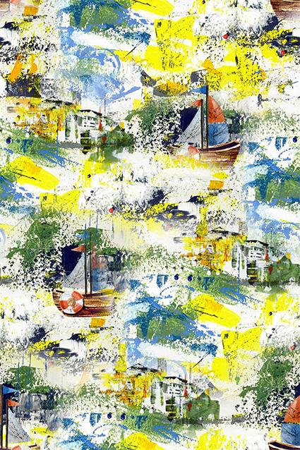 水彩涂鸦纹理图绘