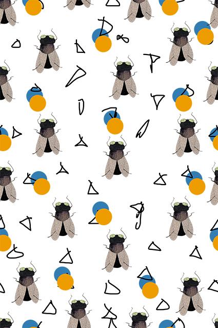 卡通昆虫几何图绘