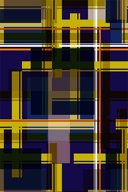 几何不规则叠加格子