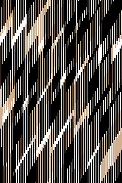 交叉几何线条流行图案