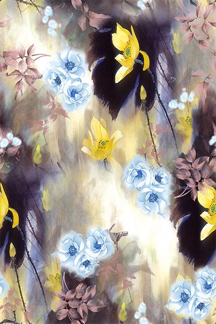 渲染抽象水彩花卉