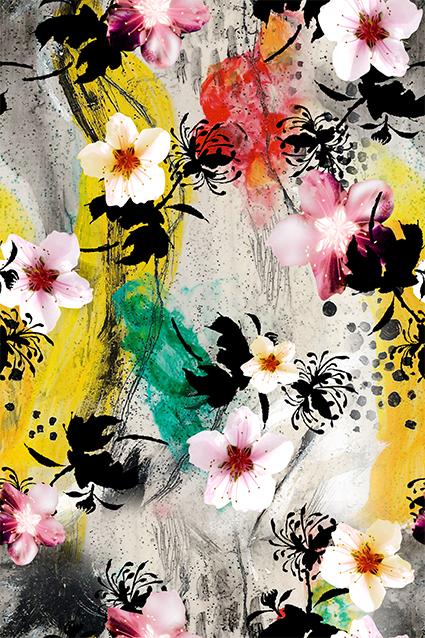 妖艳水彩植物花卉