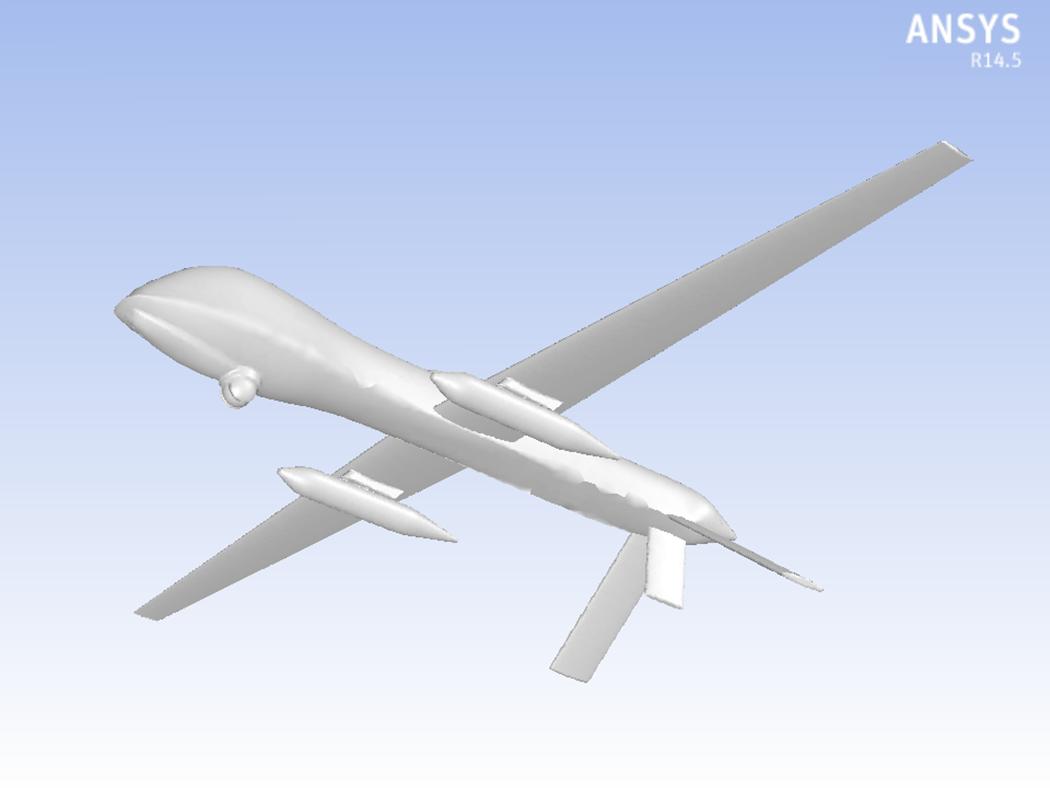 无人机的飞机几何图形