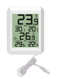 FT0422 Indoor/outdoor thermometer with water proof wired probe