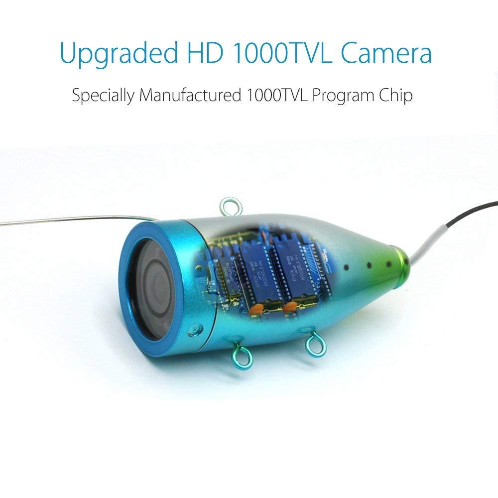 Eyoyo Portable 9 inch LCD Monitor Fish Finder HD 1000TVL Fishing Camera Waterproof Underwater DVR Video Cam Infrared Lights 30m