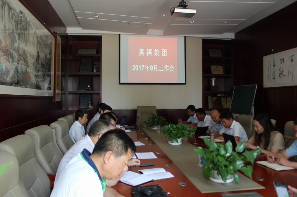 奥福集团召开工作会议