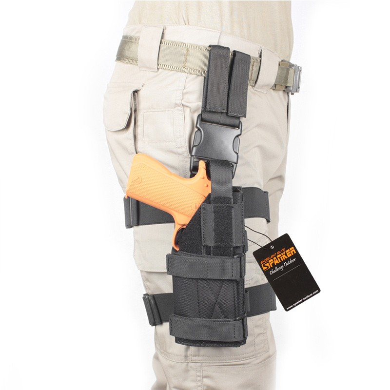 Military Tactical Mini Drop Leg Panel with Universal Pistol