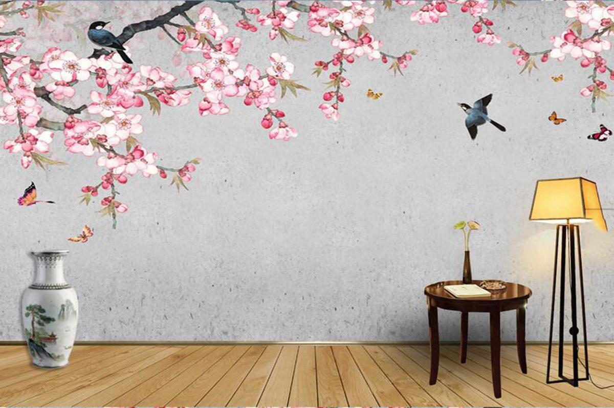 手绘墙纸壁画216125832