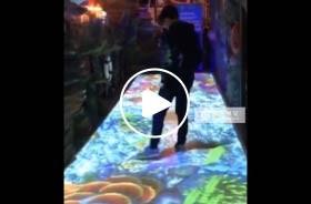 北京好伦哥餐厅海洋主题地面互动投影
