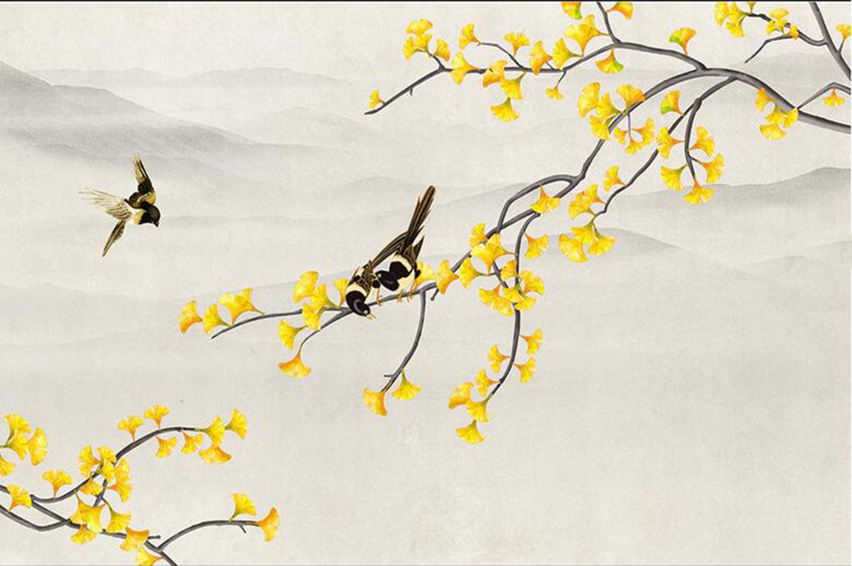手绘墙纸壁画216591044