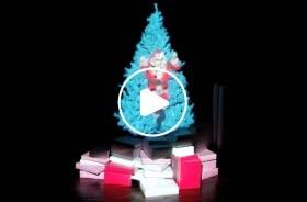建筑投影圣诞树(1)