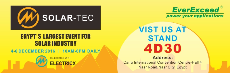 Welcome to Visit EverExceed at Electricx  Solar-Tec 2016