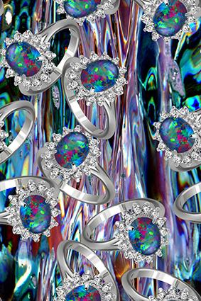 闪亮戒指蓝宝石