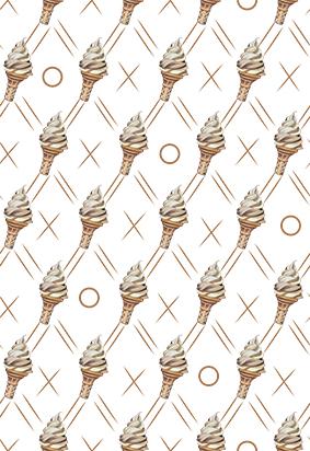 手绘素描冰淇淋