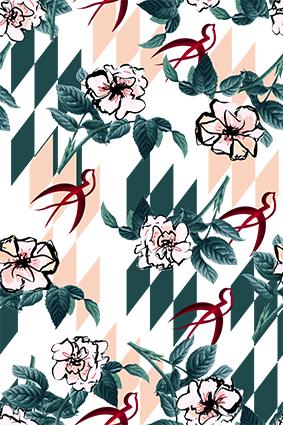 元素手绘效果植物花