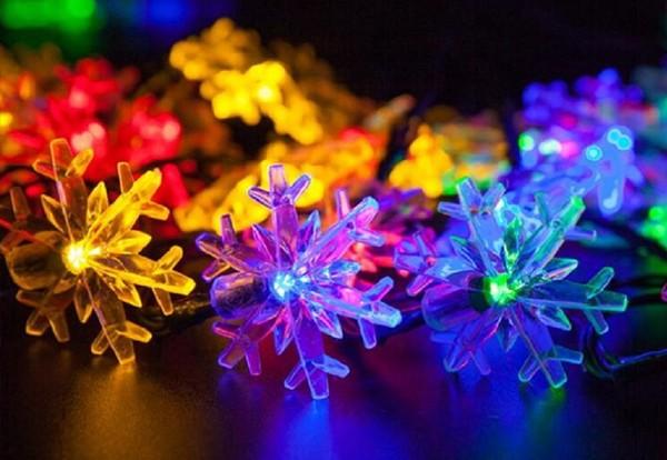雪花圣诞LED串灯