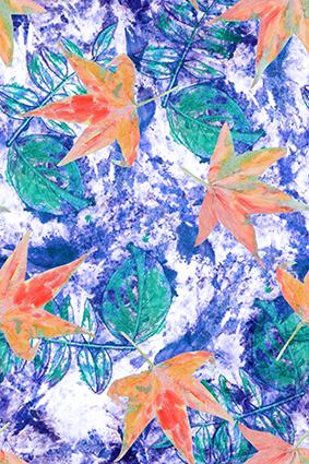 绿色叶脉抽象枫叶